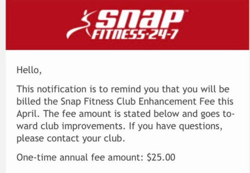 Snap Fitness: Class action lawsuit over club enhancement